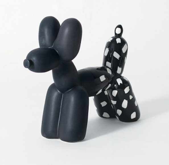 Balloon Dog Bookend Black & White