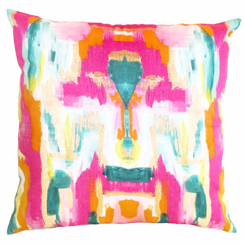 Abstract Ikat Pillow
