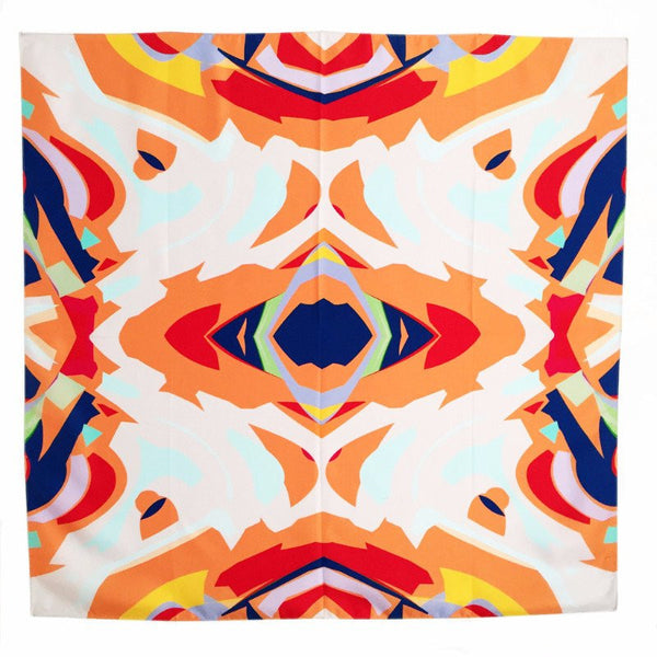 Abstract Mirror Silk Scarf