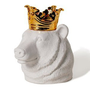 Bear with Crown Cookie Jar