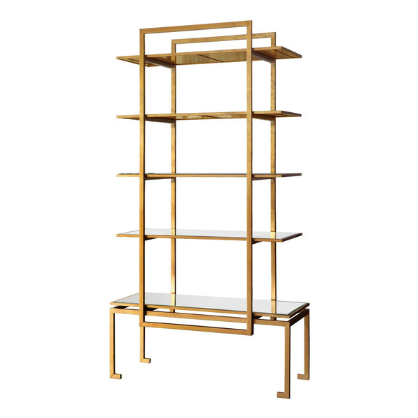 Gold Iron Etagere