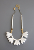 Magnesite & Brass Necklace 17