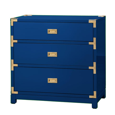 Lacquer 3-Drawer Side Table