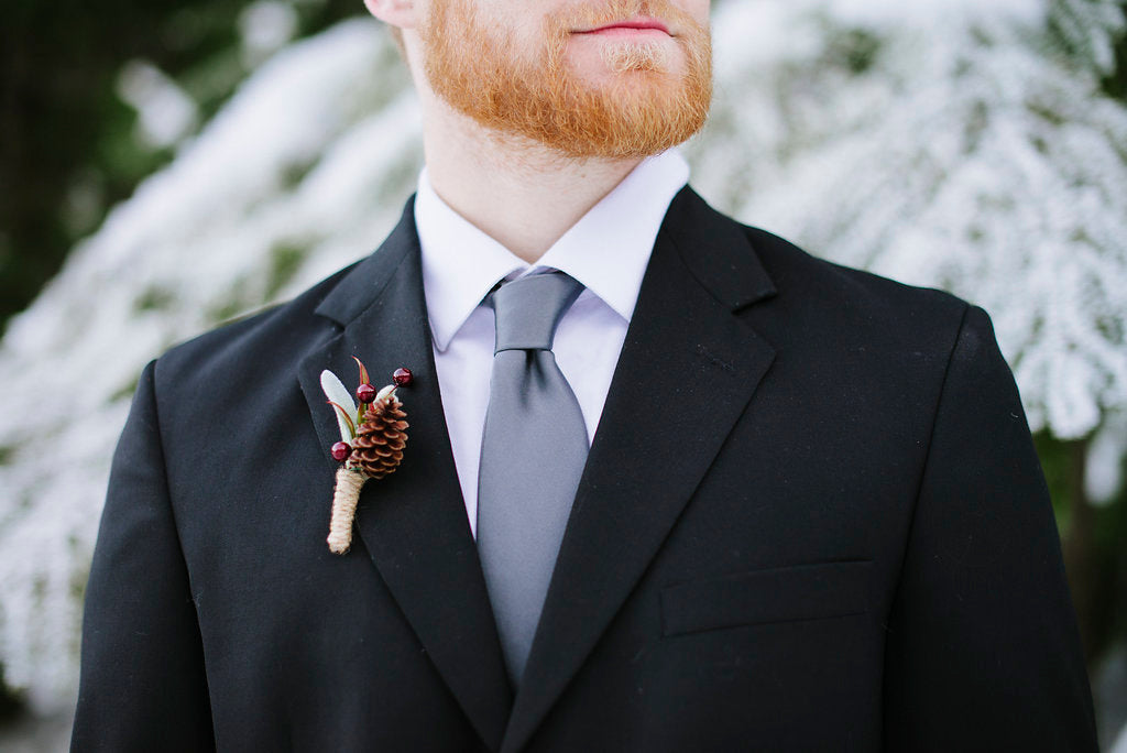 winter wedding suit and tie