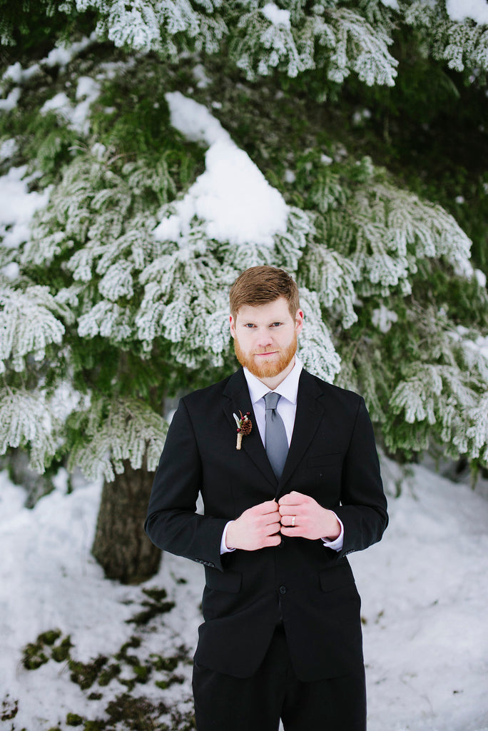 winter wedding mens attire