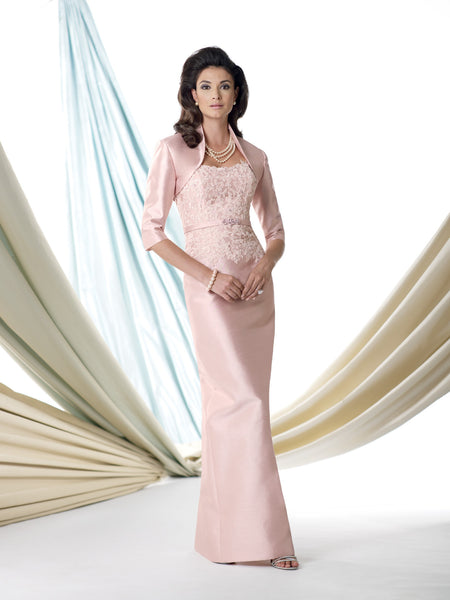 Evelyn Two Piece Shantung Silk Gown -Montage By Mon Cheri- Nadia S Evening  - 1