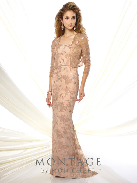 Flora Two Piece Lace Gown -Montage By Mon Cheri- Nadia S Evening  - 1