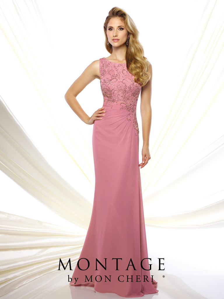 Marissa Ruched Beaded Gown -Montage By Mon Cheri- Nadia S Evening  - 1