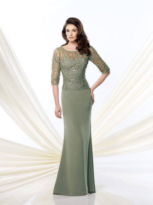 Mona Embroidered Lace Gown -Montage By Mon Cheri- Nadia S Evening  - 1