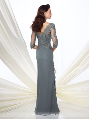 Dawna Lace Illusion Gown -Montage By Mon Cheri- Nadia S Evening  - 2