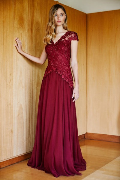 Zella Embroidered Gown