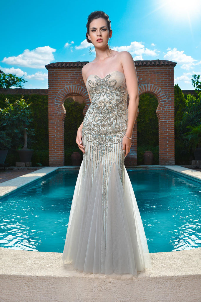 Musana Beaded Gown -Colors- Nadia S Evening  - 1