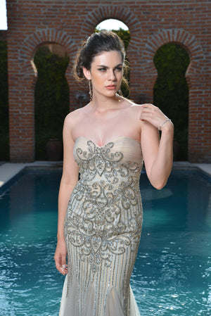 Musana Beaded Gown -Colors- Nadia S Evening  - 3