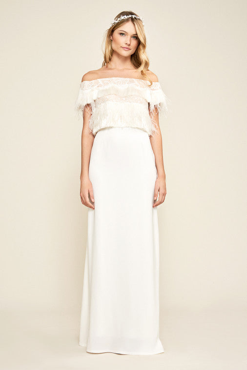 Jessica Off-The-Shoulder Gown
