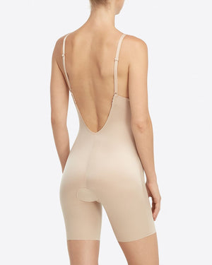 Plunge Low-Back Mid-Thigh Bodysuit