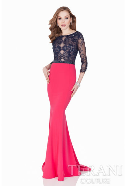 Annora Two Tone Gown -Terani Couture- Nadia S Evening  - 1