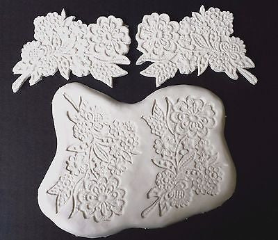 Lace Mold Flower Spray Silicone 5 inch CK #44-1201