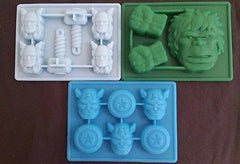 Avengers Thor Captain America Hulk Ice Tray Silicone Soap Chocolate Mold set of3