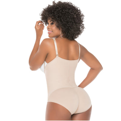 Fajas Salome 0418 Strapless Butt Lifter Shapewear with Tummy Control