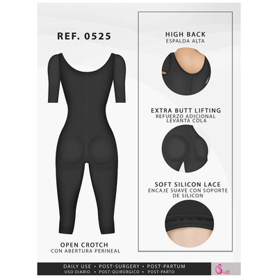 Fajas Salome 0525 Post Surgical Full Body Shaper with Sleeves