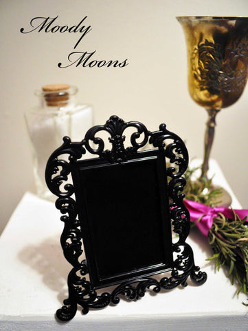 Scrying Mirror with Black Frame