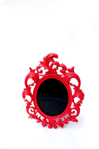 Scrying Mirror with Red Frame