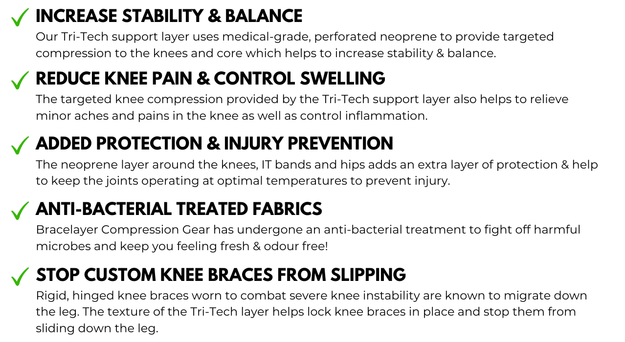 Bracelayer Benefits of Compression Pants with Knee Support