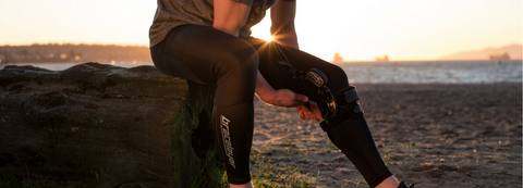 Stop knee brace migration sliding with bracelayer compression pants