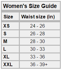 Womens size guide Bracelayer
