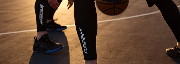 Bracelayer Knee Brace Compression Pants Basketball Bball