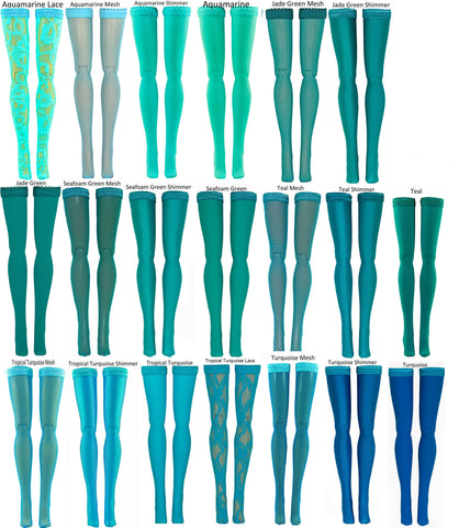 "Aqua Doll Stockings for Barbie - Francie - Skipper - Ken - Stacey - Fashionista - Curvy - Tall - Petite - Silkstone - 17"" Barbie - 18"" Supersize Barbie - Stacey"