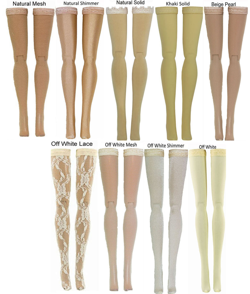 Beige Doll Stockings to fit 1/3 Adult BJD dolls - Doll Chateau - Obitsu - Volks - Maskcat - Obitsu - Fairyland
