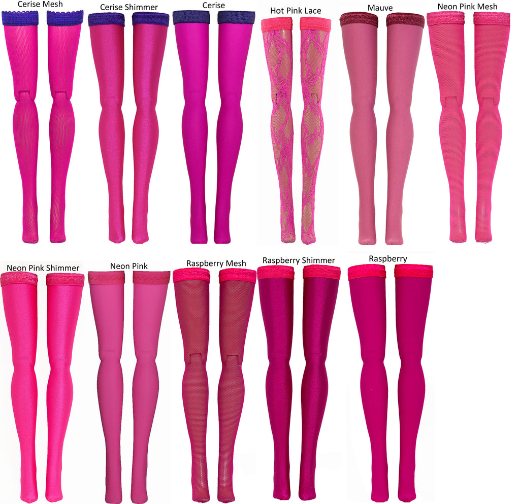 Bright Pink Doll Stockings for 1/6 Scale Figures - Phicen - Hot Toys - Cy  Girls - Kumik - Triad - Dollfie - Momoko - Obitsu - Gildebrief French