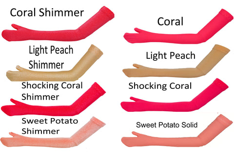 Coral/Peach Doll Gloves to fit Ideal Dolls - Little Miss Revlon - Miss Revlon - Velvet - Crissy - Tiffany Taylor - Doll Anklets
