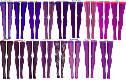 "Dark Purple Doll Stockings for Barbie - Francie - Skipper - Ken - Stacey - Fashionista - Curvy - Tall - Petite - Silkstone - 17"" Barbie - 18"" Supersize Barbie - Stacey"