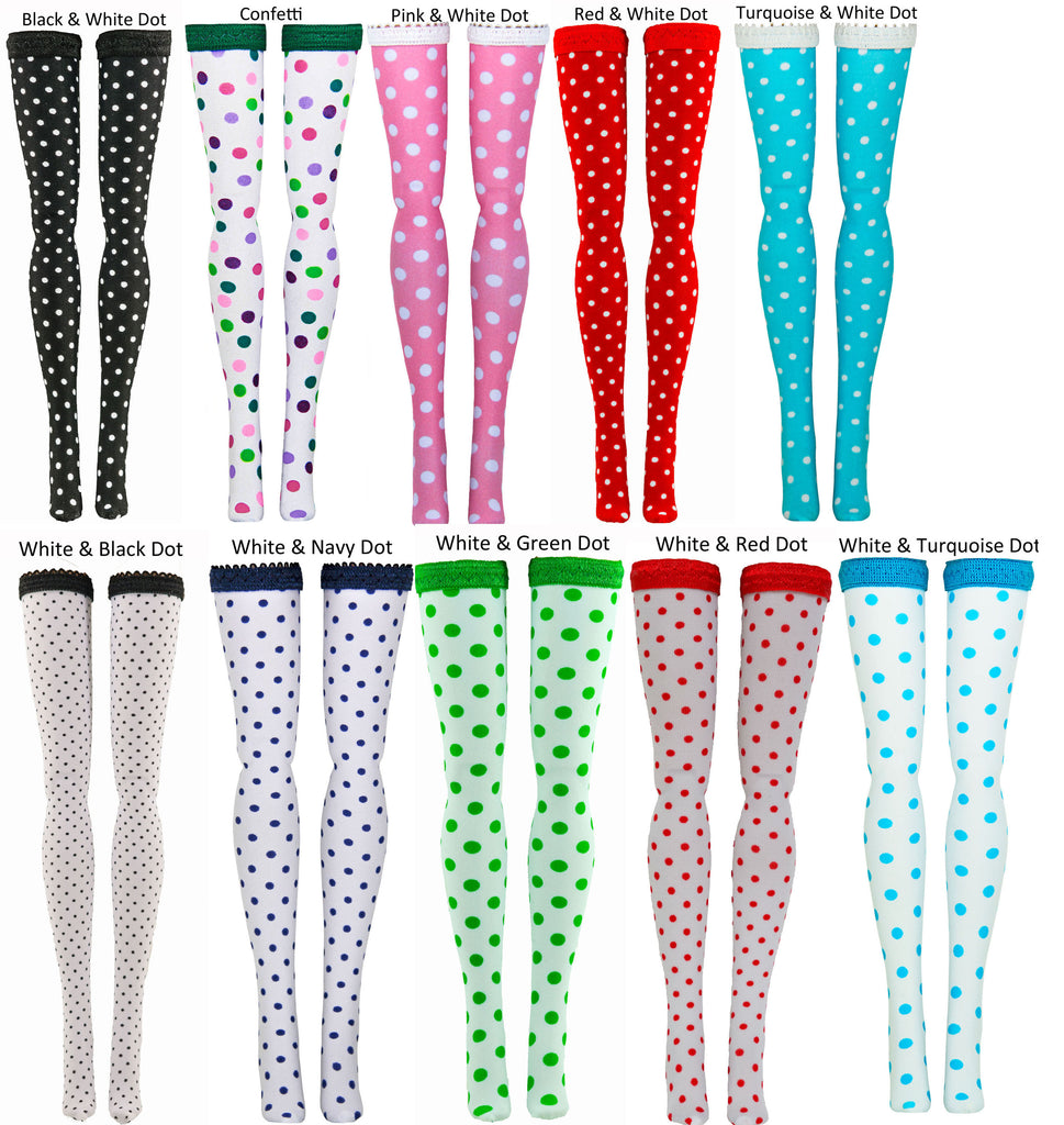 Dots Doll Stockings to fit American Character Dolls - Betsy McCall - Toni - Sweet Sue Sophisticate