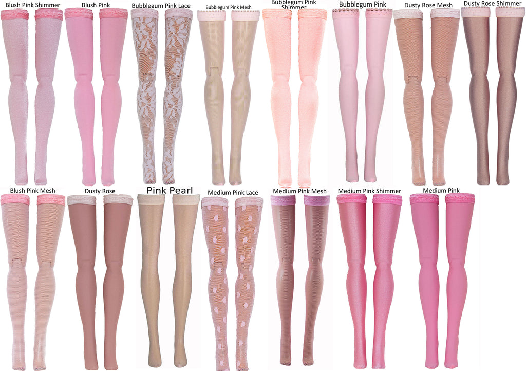 Light Pink Doll Stockings for Ever After High & Monster High - Doll Clothes - All Sizes