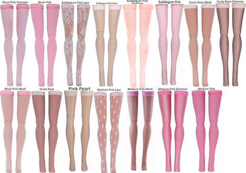 Light Pink Doll Stockings for Blythe - Middie Blythe - Chubby Blythe - Azone Pure Neemo - Picco Neemo - Doll Clothes