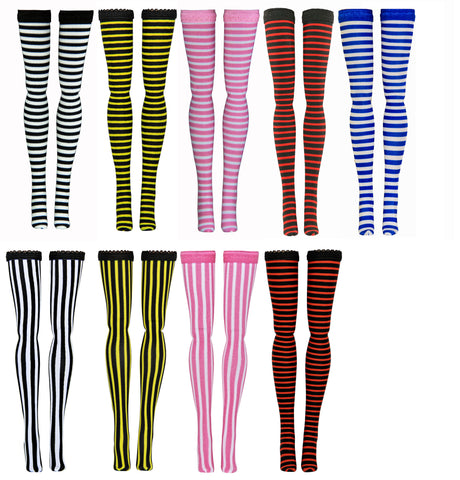 Micro Stripe Doll Stockings to fit Bratzilla - Moxie Teen - Liv - DC Heroes - Dolls - Doll Clothes