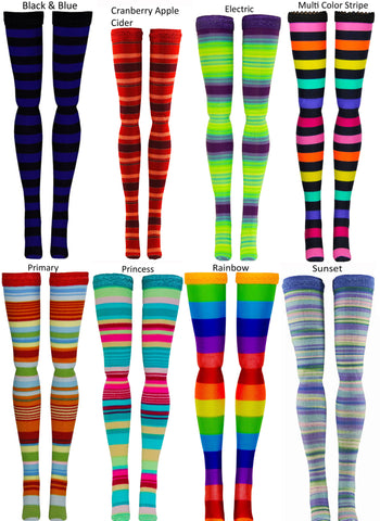 Multi Stripe Doll Stockings to fit Bratzilla - Moxie Teen - Liv - DC Heroes - Dolls - Doll Clothes