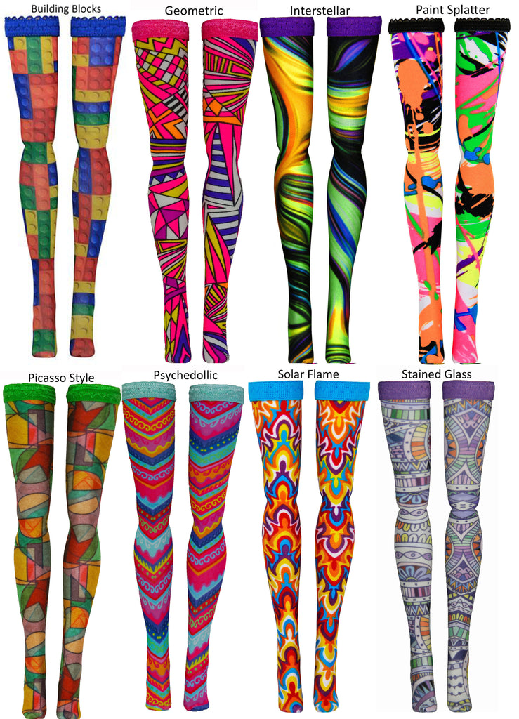Prints 1 Doll Stockings for Jem & the Holograms - Hasbro - Integrity Toys - vintage - Doll Clothes