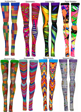 Prints 1 Doll Stockings to fit Bratzilla - Moxie Teen - Liv - DC Heroes - Dolls - Doll Clothes