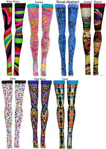 Prints 2 Doll Stockings for Jem & the Holograms - Hasbro - Integrity Toys - vintage - Doll Clothes