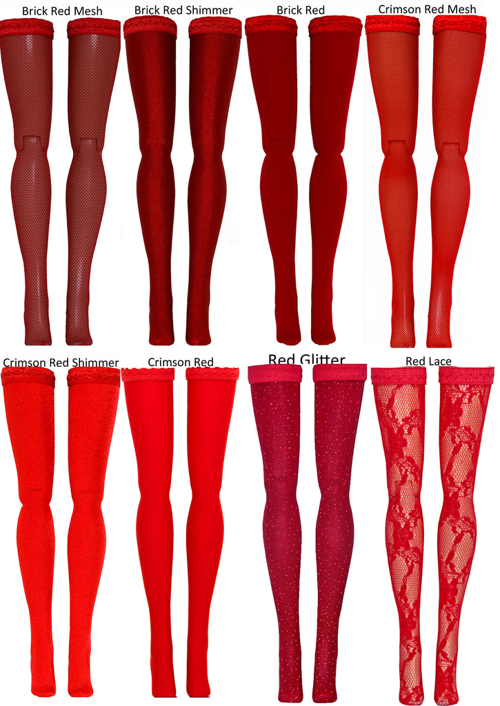 Red Doll Stockings for Ever After High & Monster High - Doll Clothes - All Sizes