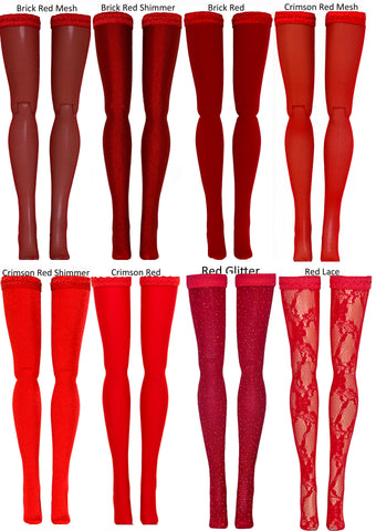 Red Doll Stockings to fit 1/3 Adult BJD dolls - Doll Chateau - Obitsu - Volks - Maskcat - Obitsu - Fairyland