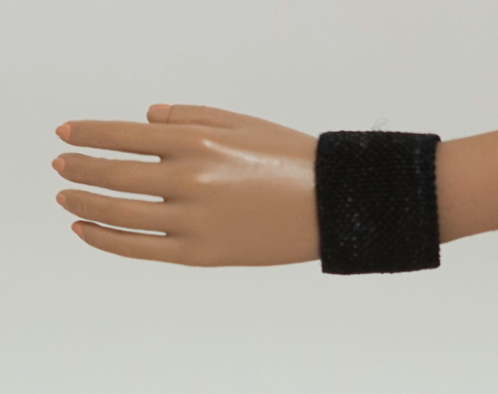 Doll Wrist Cuffs for 1/6 Scale Female Action Figures - Black - Doll Clothes - fits Phicen - Hot Toys - Cy Girls - Kumik