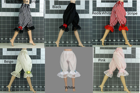 Doll Bloomers for 1/6 Scale Figures - Phicen - Hot Toys - Cy Girls - Kumik - Triad - Dollfie - Momoko - Obitsu - Gildebrief French Fashion - Doll Clothes