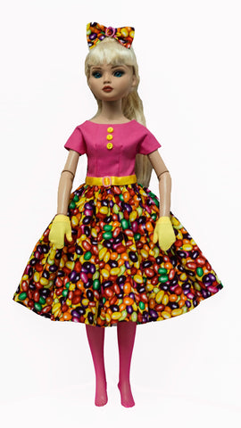 Doll Dress set for Ellowyne Wilde or Fairyland Minifee - Jelly Bean Crazy