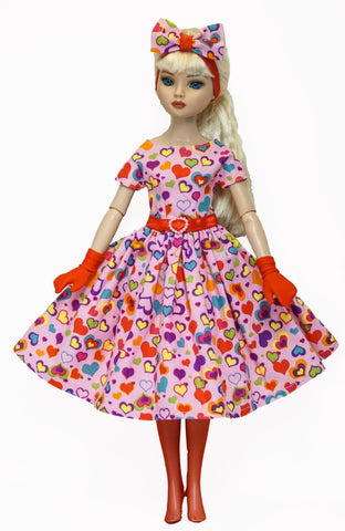 Doll Dress set for Ellowyne Wilde or Fairyland Minifee - Lotsa Heart