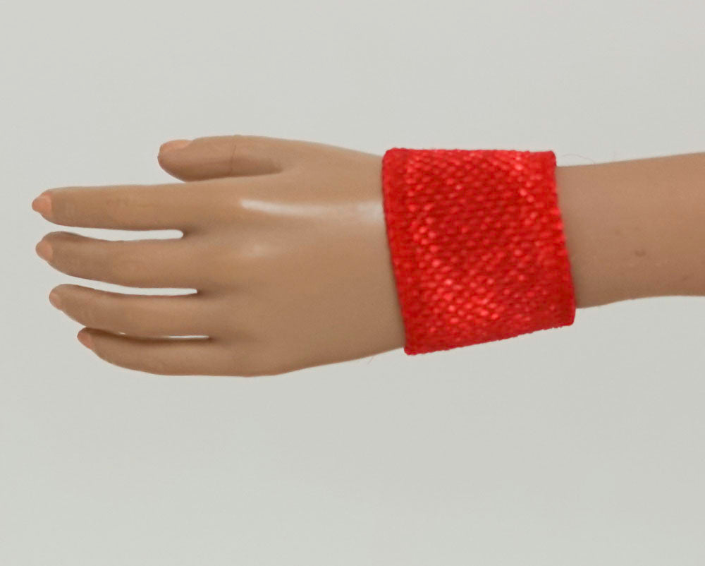 Doll Wrist Cuffs for 1/6 Scale Female Action Figures - Red - Doll Clothes - fits Phicen - Hot Toys - Cy Girls - Kumik